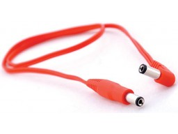 AC cable red (2,1-2,5) 50 cms