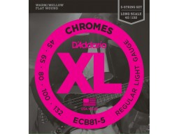 ECB81-5 Chromes Bass 5-String, Light, Long Scale [45-132]