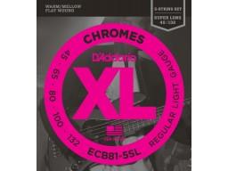ECB81-5SL Chromes 5-String, Light, Super Long Scale [45-132]