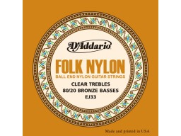 EJ33 Folk Nylon, Ball End, 80/20 Bronze/Clear Nylon