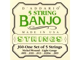 J60 5-String Banjo, Stainless Steel, Light, [10-20]