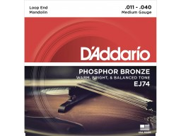 EJ74 Mandolin Strings, Phosphor Bronze, Medium, 11-40