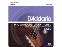EJ65C PRO-ARTÉ CUSTOM EXTRUDED NYLON UKULELE STRINGS, CONCERT