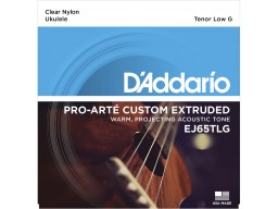 EJ65TLG Pro-Arté Custom Extruded Nylon Ukulele Strings, Tenor Low-G
