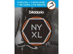3 juegos EXL110 + 1 juego NY1046 + Cejilla NS Capo Lite